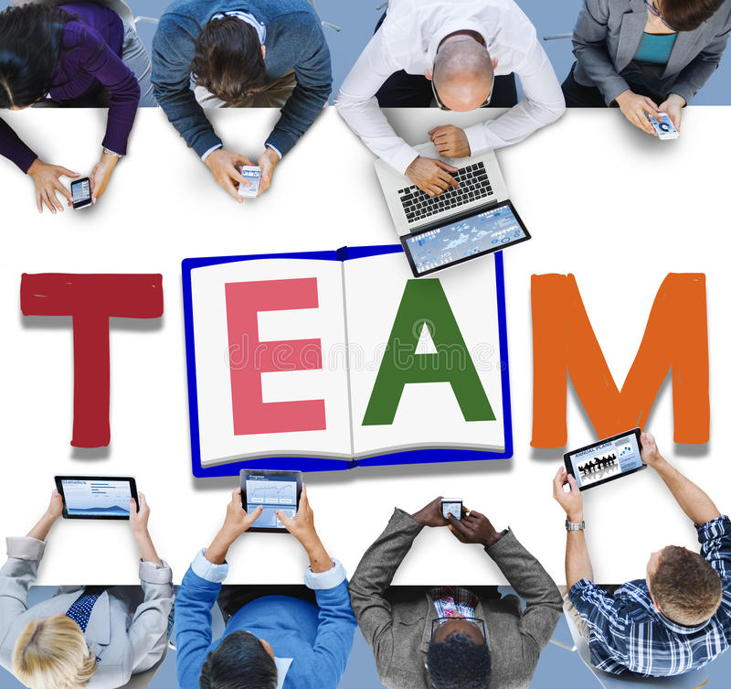 Concetto di Team Teamwork Partnership Alliance Unity fotografia stock