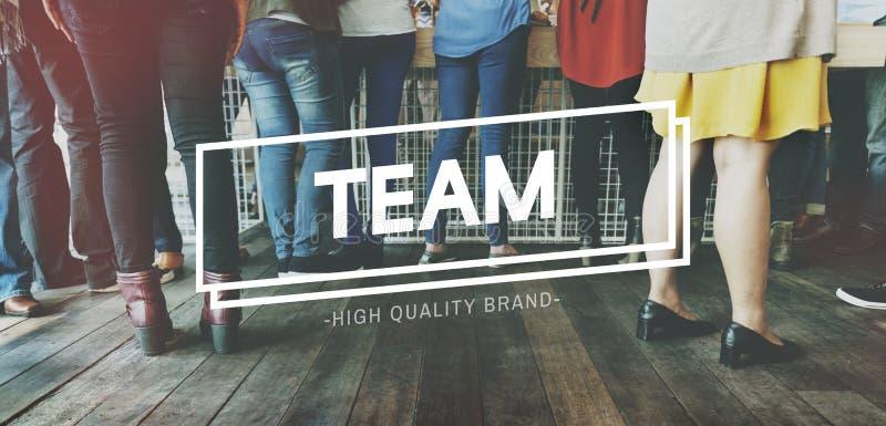 Concetto di Team Teamwork Support Strategy United Alliance immagine stock