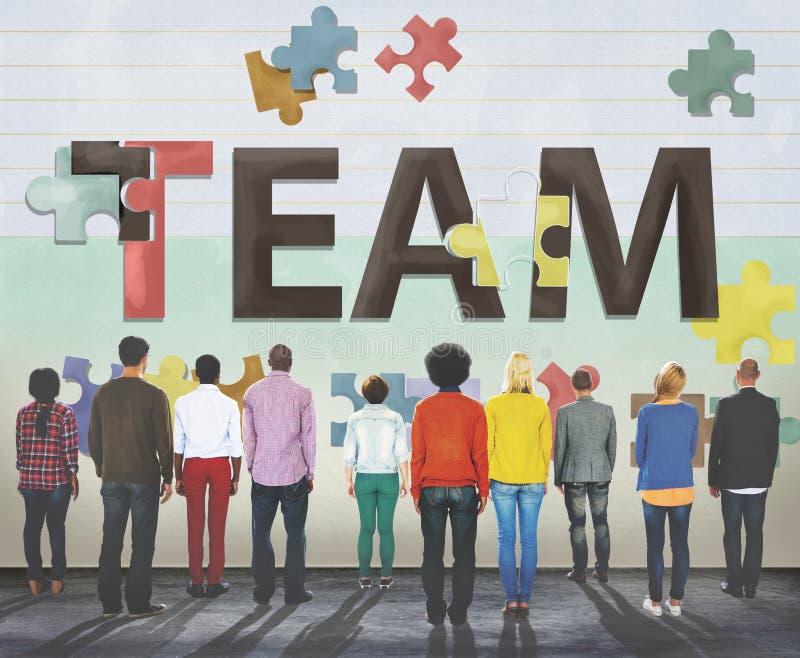 Concetto di Team Teamwork Together Togetherness Unity fotografia stock