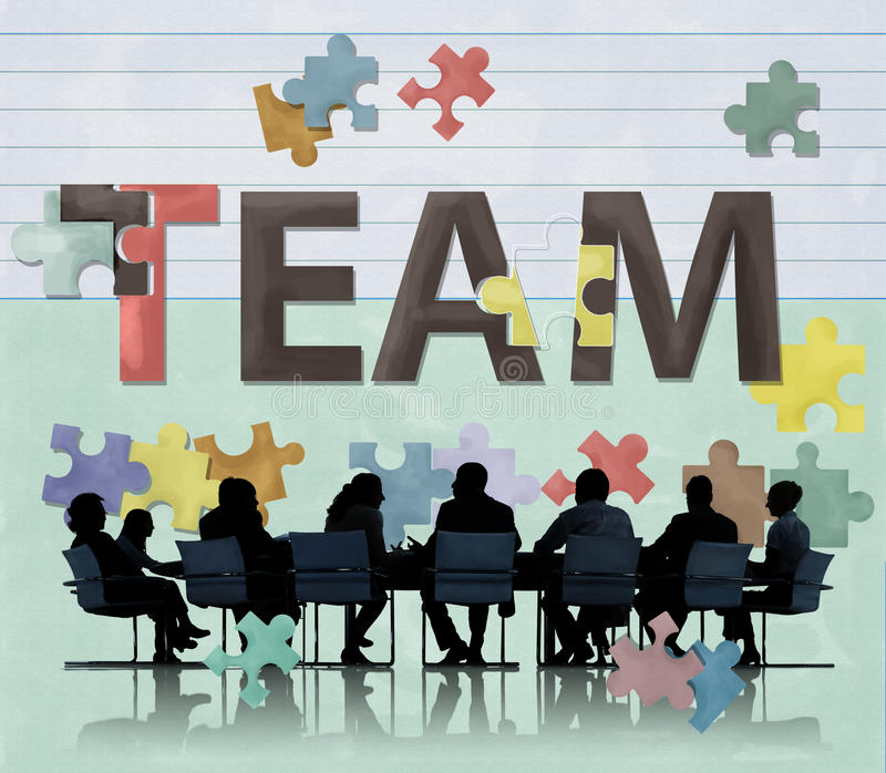 Concetto di Team Teamwork Together Togetherness Unity immagine stock