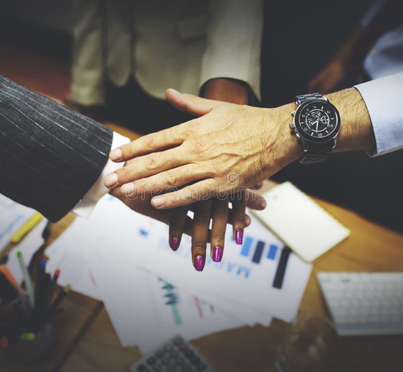 Concetto di Team Teamwork Togetherness Collaboration Corporate fotografia stock libera da diritti
