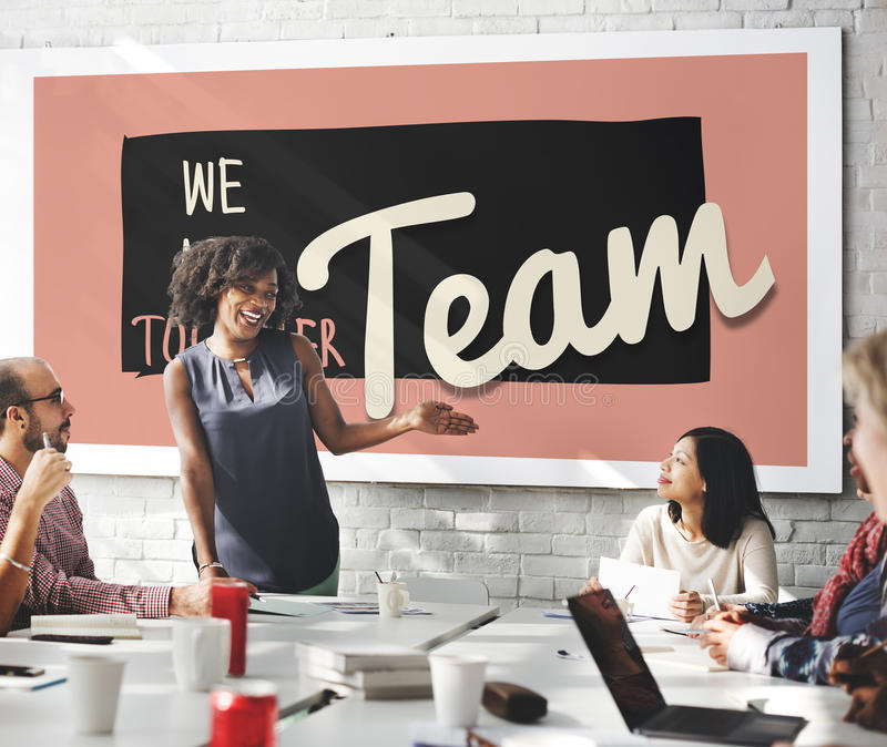 Concetto di Team Teamwork Togetherness Union Partnership fotografia stock