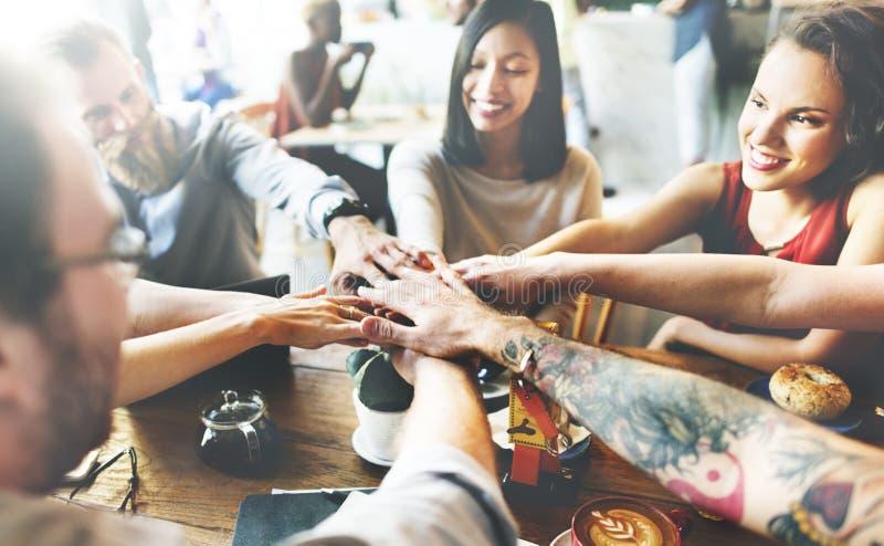 Concetto di Team Unity Friends Meeting Partnership fotografie stock libere da diritti