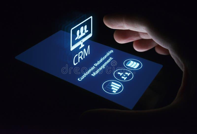 Concetto di Techology di Internet di affari del customer relationship management di CRM fotografia stock
