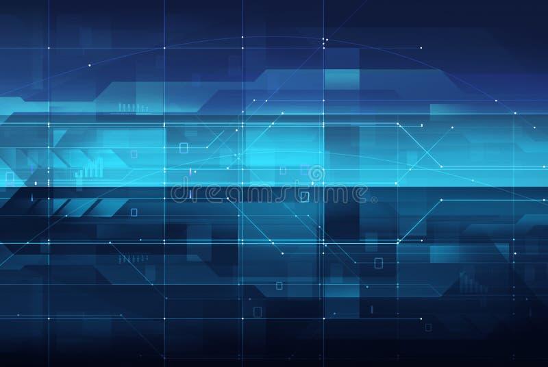 Concetto di tecnologia & circuiti digitali illustrazione di stock