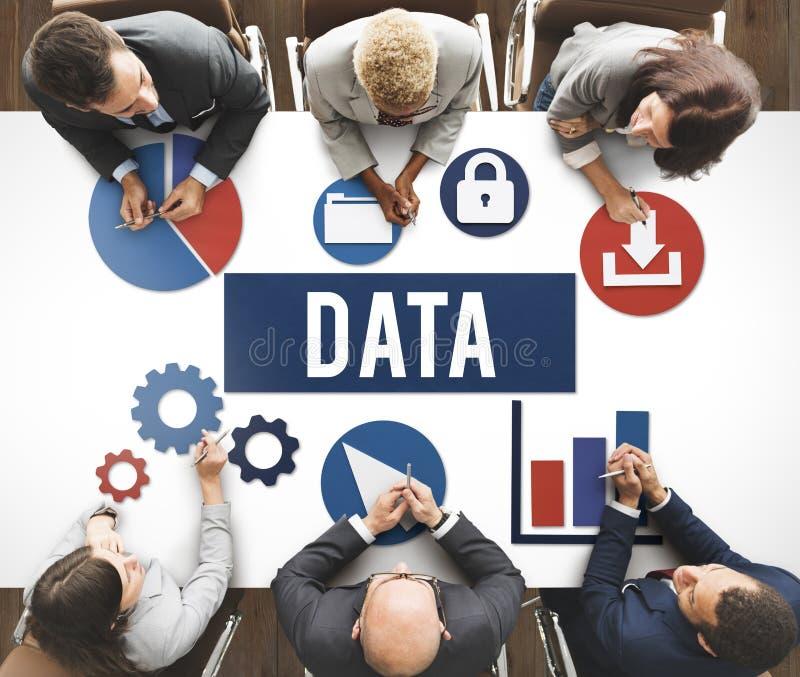 Concetto di tecnologia dell'informazione di analisi dei dati fotografia stock libera da diritti