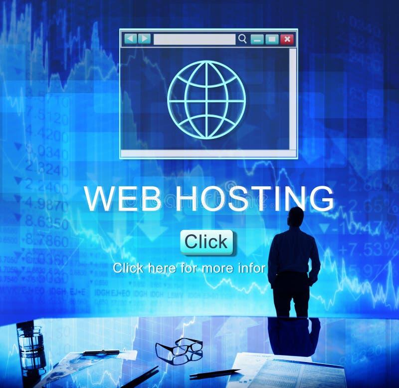 Concetto di tecnologia di SEO Online Website Web Hosting immagini stock libere da diritti