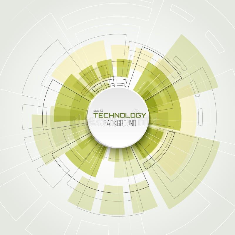 Concetto di tecnologia digitale di vettore sottragga la priorità bassa illustrazione di stock