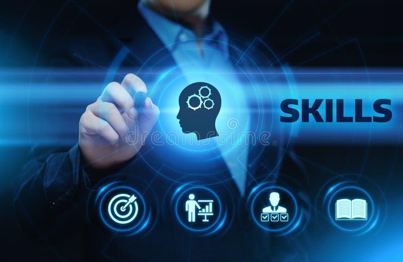 Concetto di tecnologia di Internet di affari di abilità di conoscenza di abilità fotografia stock