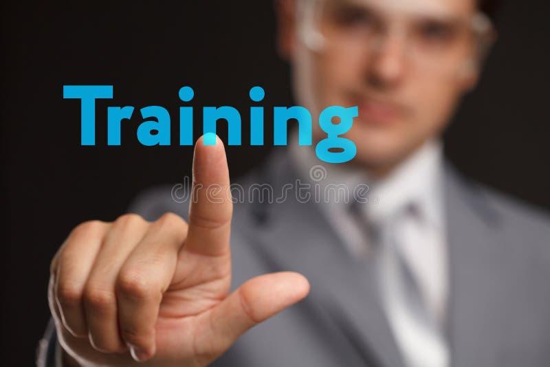Concetto di tecnologia di Internet di affari di addestramento di e-learning di Webinar fotografia stock
