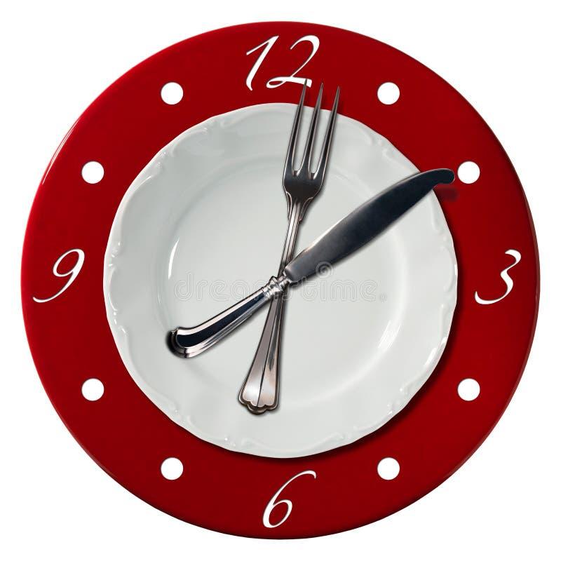 Concetto di tempo del pranzo illustrazione di stock