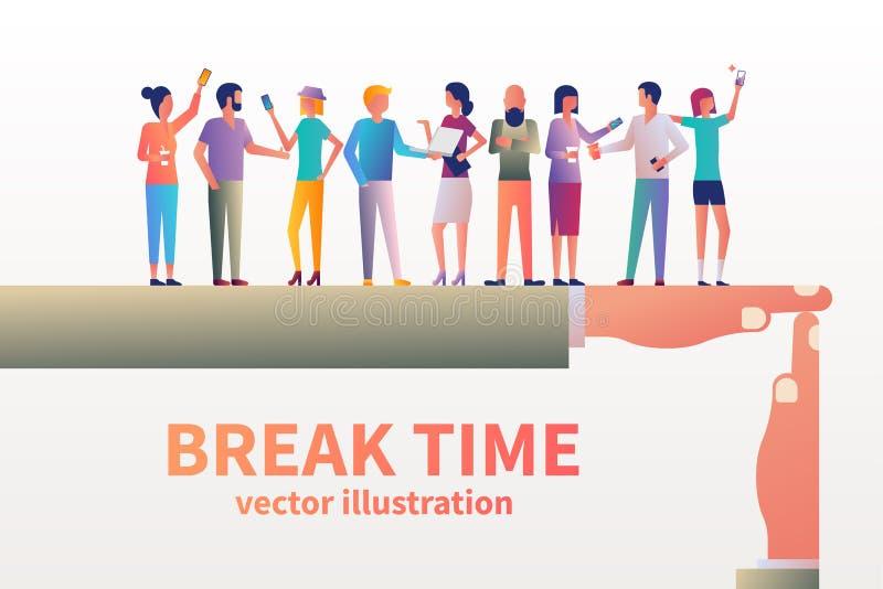 Concetto di tempo della rottura illustrazione vettoriale