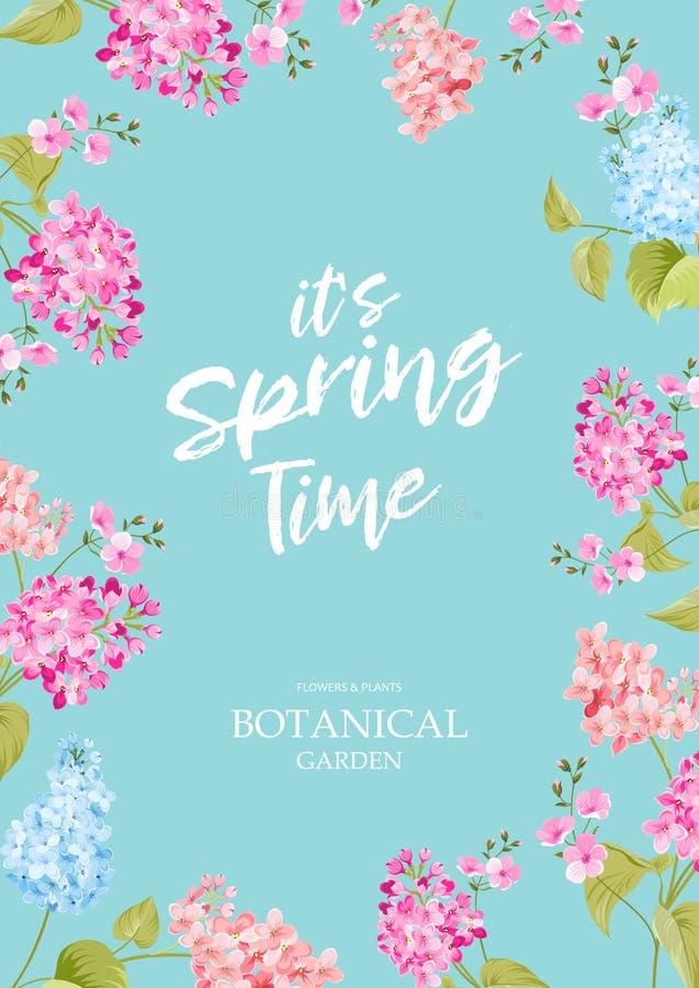 Concetto di tempo di primavera illustrazione vettoriale