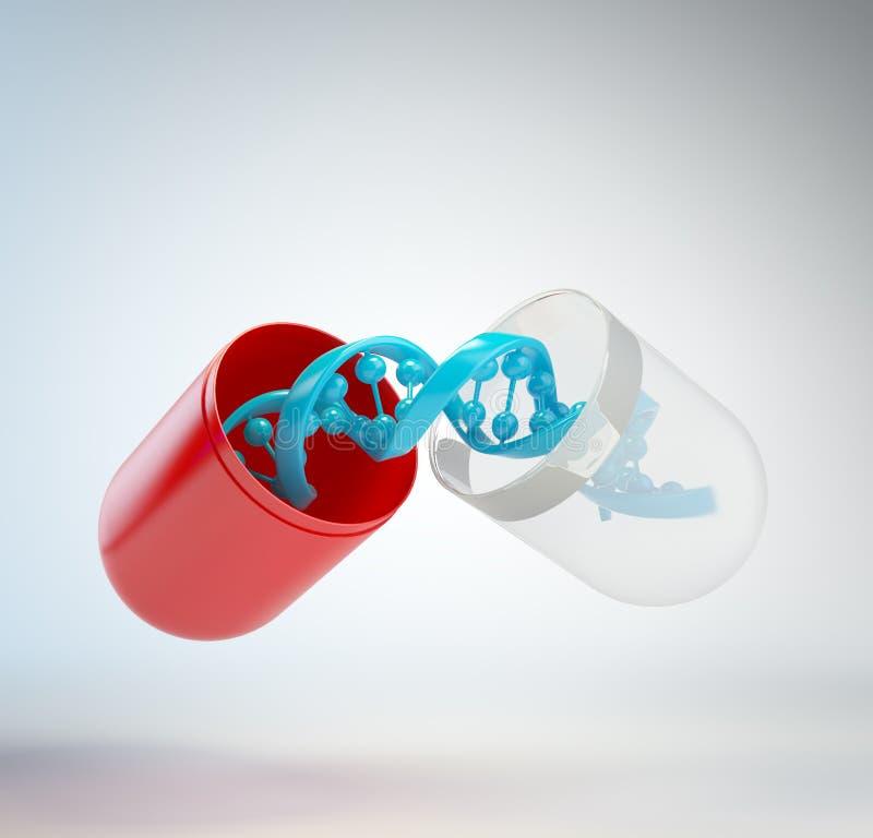Concetto di terapia di gene royalty illustrazione gratis