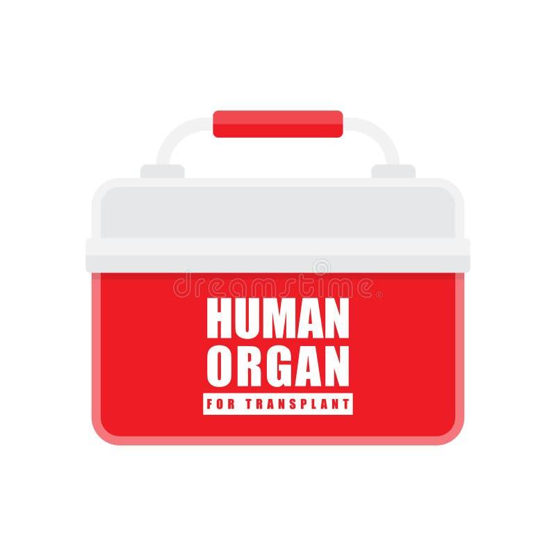 Concetto di trapianto dell'organo, vettore illustrazione di stock