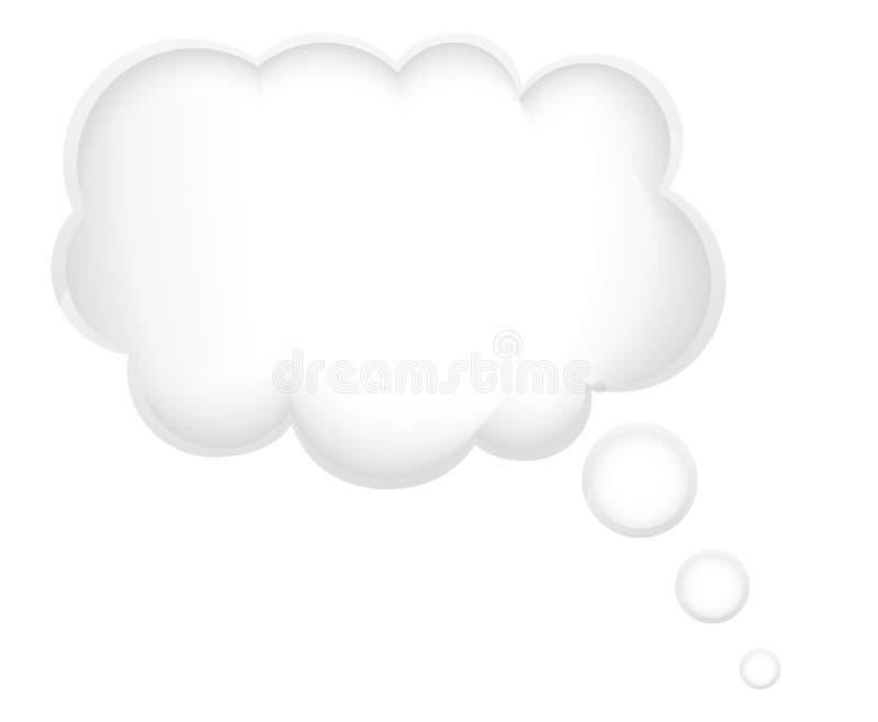 Concetto di un sogno nel illustratio di vettore della nuvola royalty illustrazione gratis