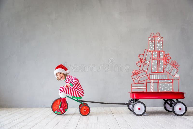 Concetto di vacanza invernale di natale di Natale fotografia stock
