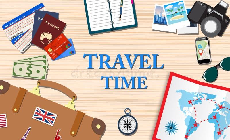 Concetto di vacanze e di viaggio illustrazione di stock