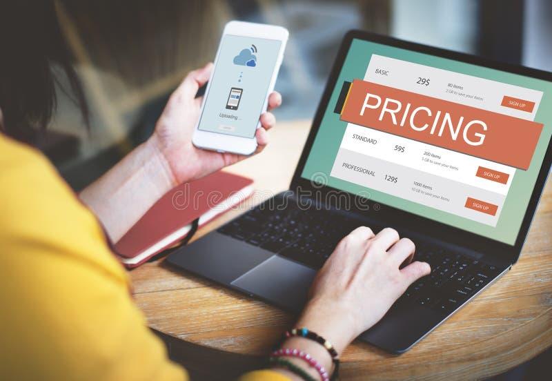 Concetto di valore di promozione di prezzi di prezzo di mercato fotografia stock libera da diritti