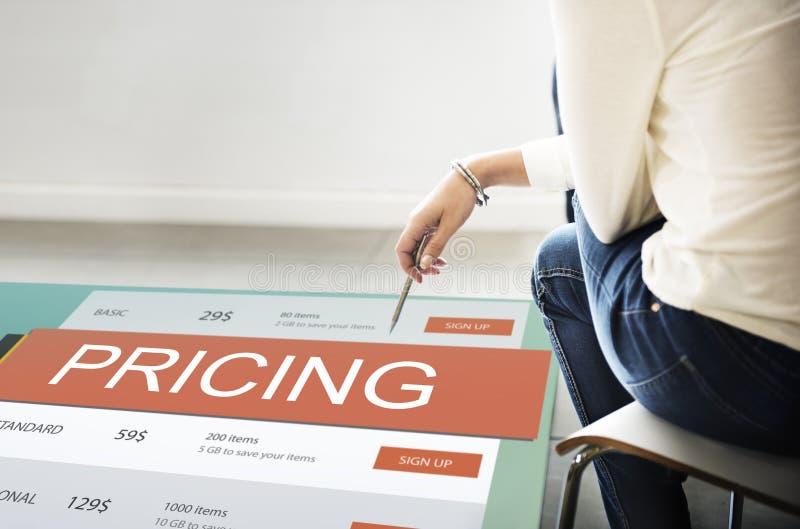 Concetto di valore di promozione di prezzi di prezzo di mercato immagini stock libere da diritti