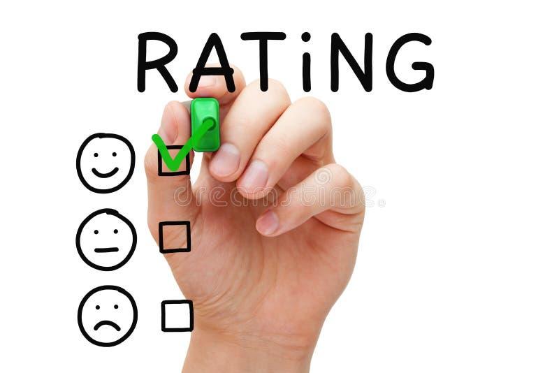 Concetto di valutazione di soddisfazione del cliente immagini stock libere da diritti