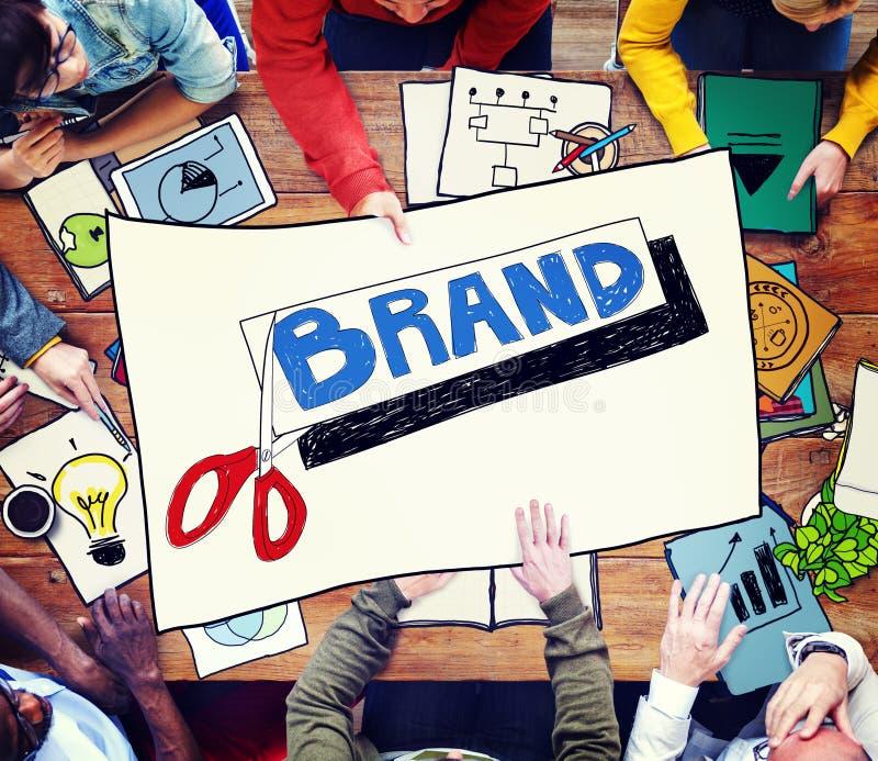 Concetto di vendita di Copyright di commercio di pubblicità di marca immagine stock libera da diritti