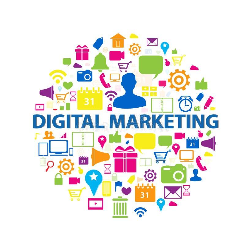 Concetto di vendita di Digital illustrazione di stock