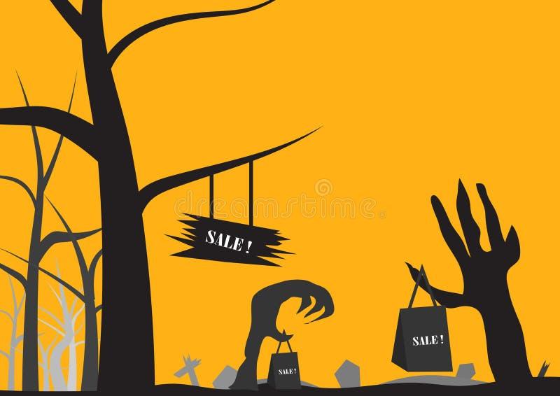 Download Concetto Di Vendita Nel Fondo Di Halloween Illustrazione Vettoriale - Illustrazione di regalo, malvagità: 56878590