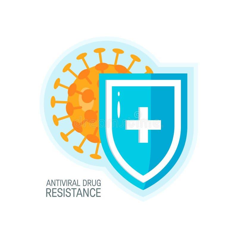 Concetto di vettore del sistema immunitario, icona colorata semplice royalty illustrazione gratis