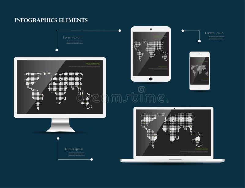 Concetto di vettore di codifica di sviluppo illustrazione di stock