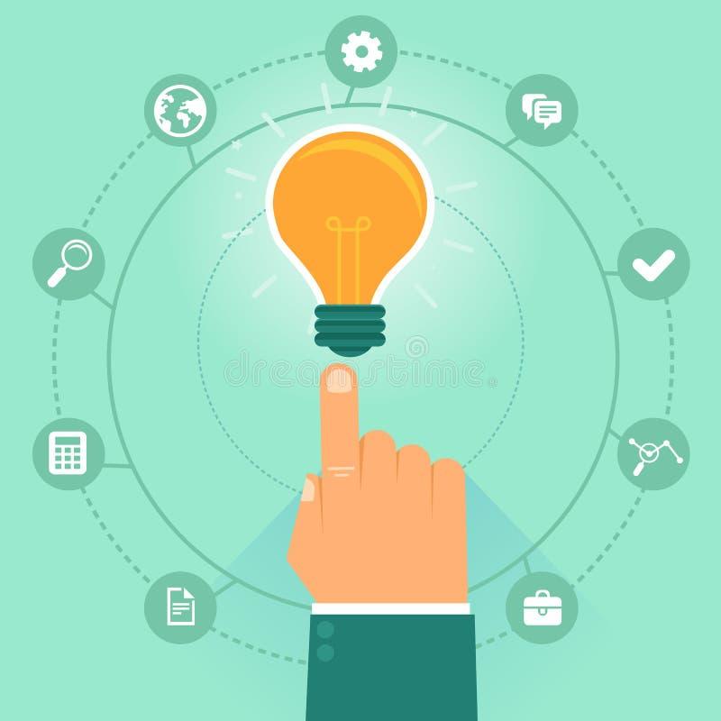 Concetto di vettore - gestione di impresa creativa illustrazione di stock