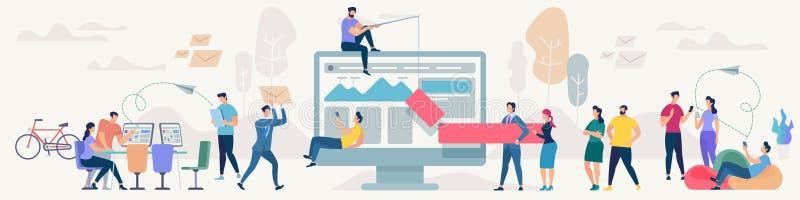 Concetto di vettore di lavoro di squadra e della rete sociale illustrazione vettoriale