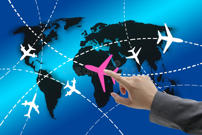 Concetto di viaggio d'affari illustrazione vettoriale