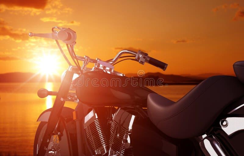 Concetto di viaggio del motociclo immagini stock libere da diritti