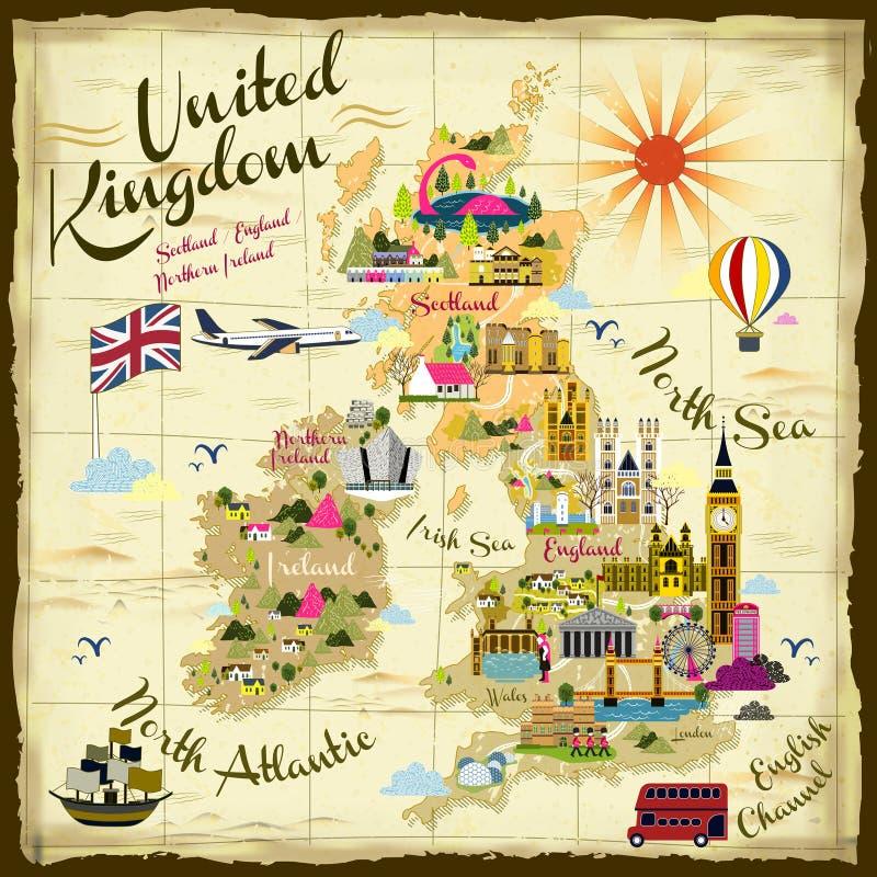 Concetto di viaggio del Regno Unito illustrazione vettoriale