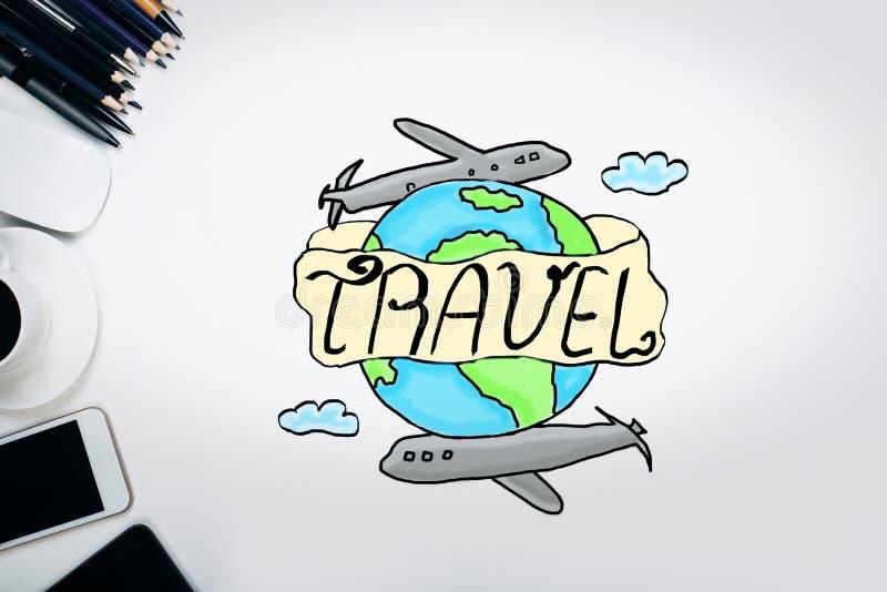 Concetto di viaggio di affari illustrazione vettoriale