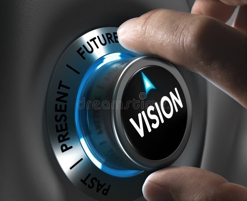 Concetto di visione corporativa o della società illustrazione vettoriale