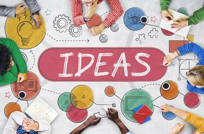Concetto di visione delle icone di immaginazione di missione di idee illustrazione di stock