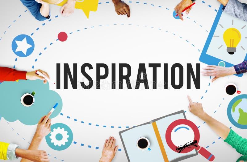 Concetto di visione di idee di creatività dell'innovazione di ispirazione illustrazione vettoriale