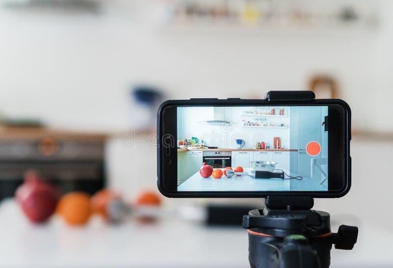 Concetto di Vlogging fotografia stock