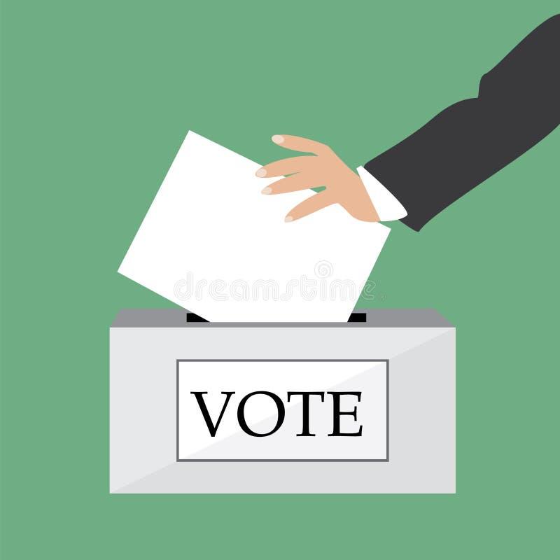 Concetto di voto illustrazione vettoriale