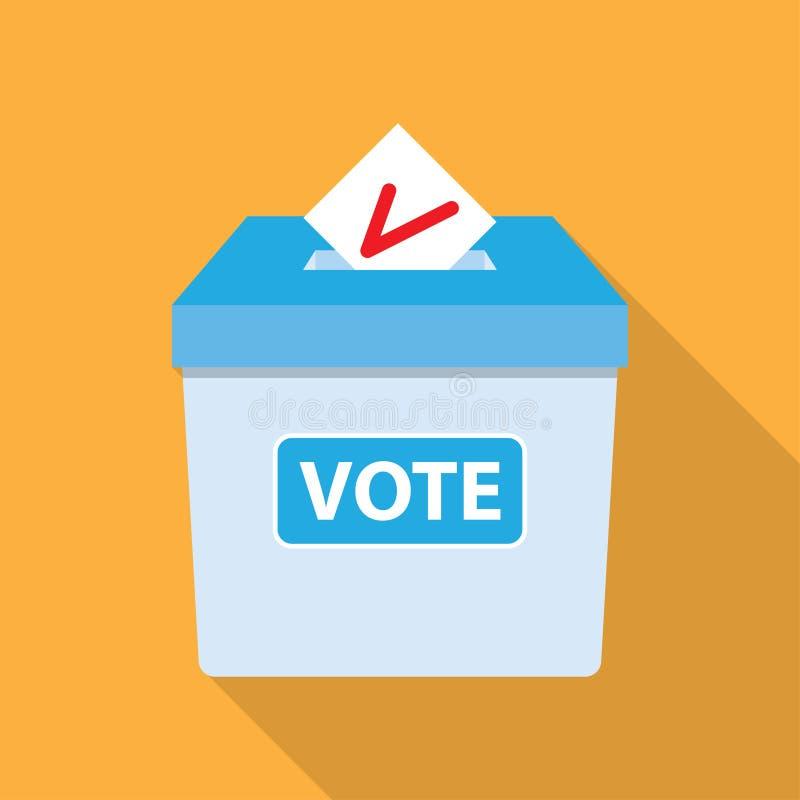 Concetto di voto nello stile piano royalty illustrazione gratis