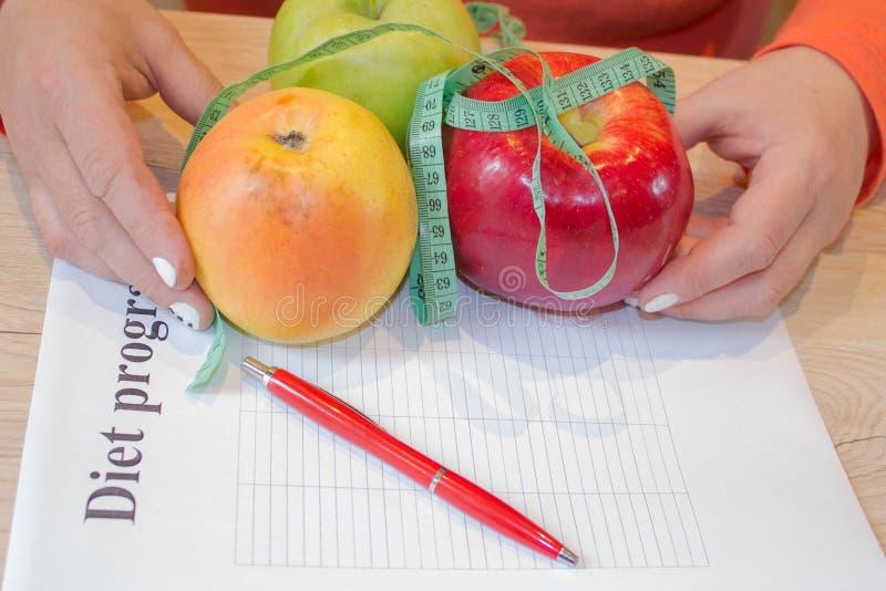 , Concetto, dieta, alimento, peso, perdita Tempo per il dimagramento di dieta immagine stock libera da diritti