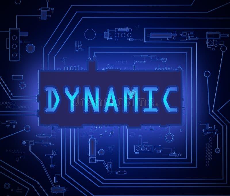 Concetto dinamico di tecnologia royalty illustrazione gratis