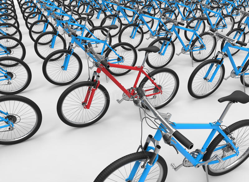 Concetto dispari della bici un fuori illustrazione di stock