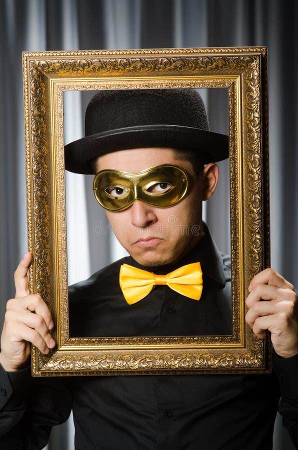 Concetto divertente con il theatrical fotografia stock