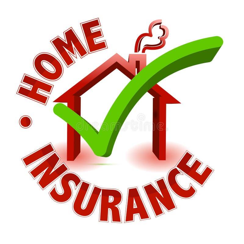 Concetto domestico di assicurazione illustrazione vettoriale