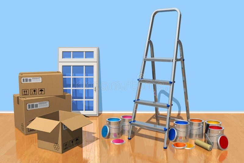 Concetto domestico di rinnovamento illustrazione vettoriale