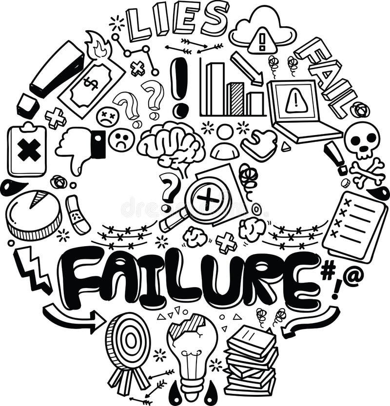 Concetto e metafora del fallimento illustrazione di stock