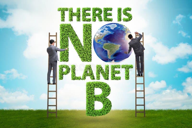 Concetto ecologico - non c'è nessun pianeta b fotografie stock libere da diritti